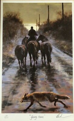 """Mick Cawston Rare Limited Edition Signed Print  """"Going Home"""""""