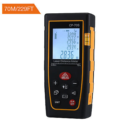 70m LCD Digital Laser Distance Meter Range Finder Measure Diastimeter Handheld