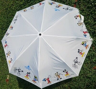 Shanghai Disney Umbrella w/cover. Mickey Mouse through the years.