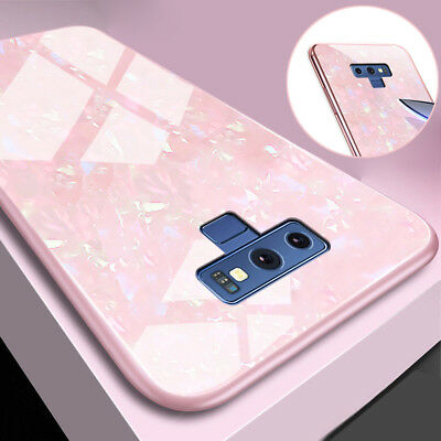For Samsung Galaxy Note 9 8 S8 S9+ Case 9H Tempered Glass Gel Hybrid Armor Cover