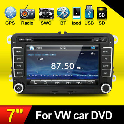 "VW Golf MK5 MK6 Jetta Double DIN 7"" Car Stereo Radio CD DVD Player Bluetooth MP3"