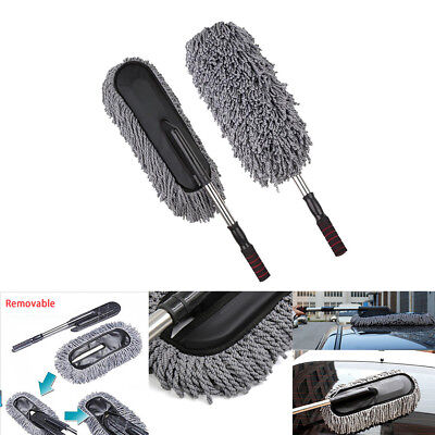Car Cleaning Duster Truck Home Clean Microfiber Wax Treated Plastic Handle Brush