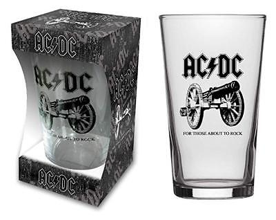 AC/DC FOR THOSE ABOUT TO ROCK beer glass
