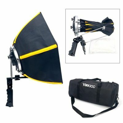 NEW 20'' Photographic Soft box 50cm Hexagon Softbox With L-Shape Adapter Ring US