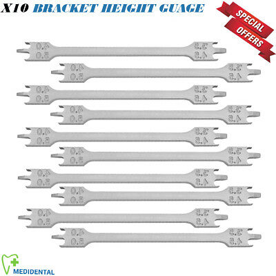 10 x Dental Bracket Height Gauge Orthodontics Positioning Measuring Guage Ortho
