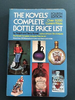 The Kovels Complete Bottle Price List, 4. Auflage