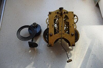 Ansonia Company Clock  Movement and Gong working order
