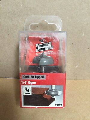"""Vermont American Carbide Tipped Router Bit #23151 1//8/"""" Cove /& Bead 1//4/"""" Shank"""
