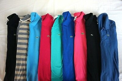 LACOSTE Lot of 9 Women's SS/LS Polo / Henley Shirts US 10 / Large / EUR 42