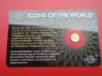 """Goldmünze """"Icons of the World"""" - American Eagle 2017 -  999/1000 Gold"""