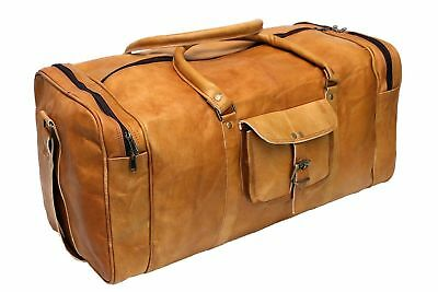 Bag Overnight Leather Travel Men Gym Duffel Vintage Weekend Genuine S Luggage