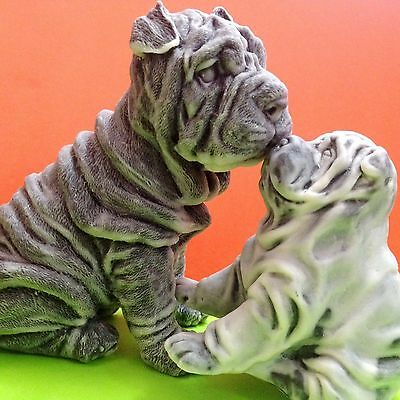 Shar Pei figurines marble chips Dogs Souvenirs Russia Statues high quality