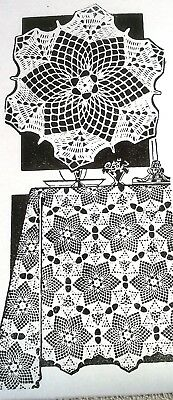 reproduction 585 Vintage Laura Wheeler ROSES FILET CLOTH Pattern to Crochet
