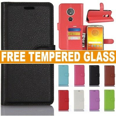 For Motorola Moto E5 Play Phone Case Leather Magnetic Flip Wallet Stand Cover