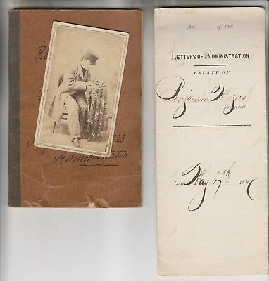 1887 Photo - Letters Of Administration - Account Booklet - Myers Newville Pa