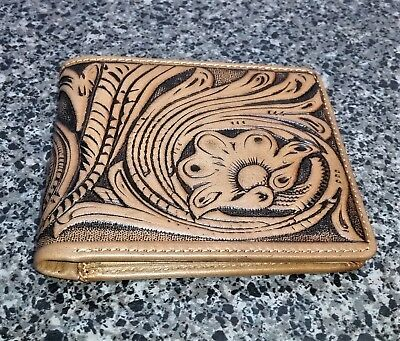 Montana West Tooled Collection Men's Leather Wallet Western Cowboy Floral Purse