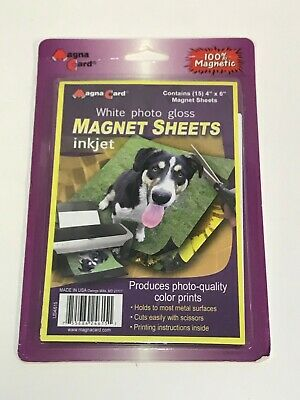 MagnaCard Magnetic Craft Sheets, 4 x 6 Inches, Pack of 4, White (BMS4/64)