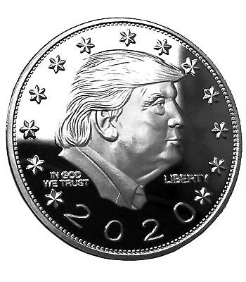 Donald Trump Keep America Great 2020 Silver Coin - Silver Plated Commemorativ...