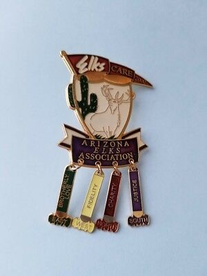Elks Pin Care 2000 Arizona Association Brotherly Love Fidelity Charity Justice