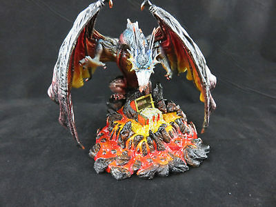 Dragon with Treasure in Lava 18cm Veronese Design Studio Collection  - NEW RARE!