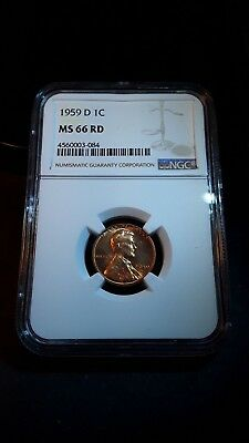 1959 D Lincoln Cent (NGC MS-66 RD) (59DLCG007)