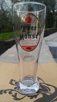 Tree House Brewing - German Style Pilsner glass with gold leaf - new release