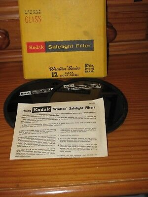 Kodak safe light filter Wratten series 12 clear light green. X 2