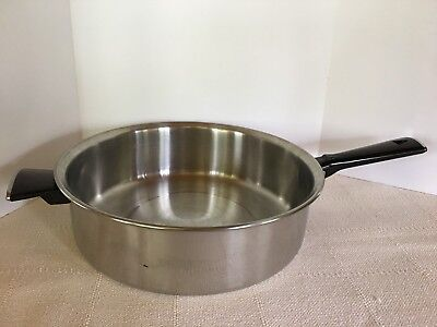 """Vollrath Stainless Steel 11"""" Skillet Frying Pan Heavy Quality Looks Un Used"""
