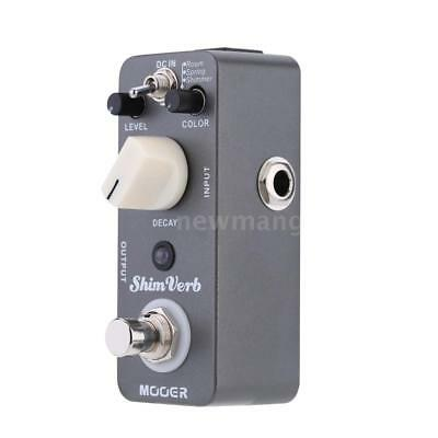 Mooer Shim Verb Micro Mini Digital Reverb Effect Pedal for Electric Guitar T9W0