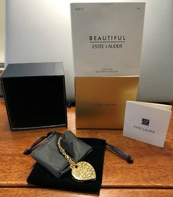 Estee Lauder Beautiful Love Locket  Solid Perfume Necklace New Boxed