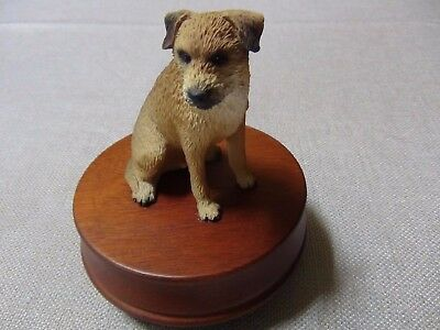 Border Terrier Music Box