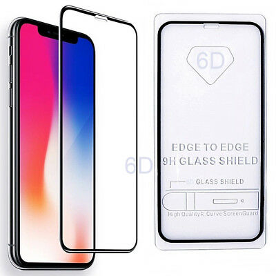 Apple iPhone XS Max XR X Tempered Glass Screen Protector Real 6D Full Coverage