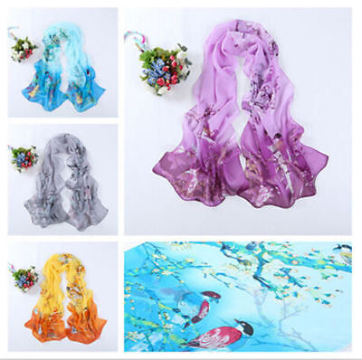 Women FASHION Long Birds Cotton Scarf Wrap Ladies Shawl Girls Large SILK Scarves