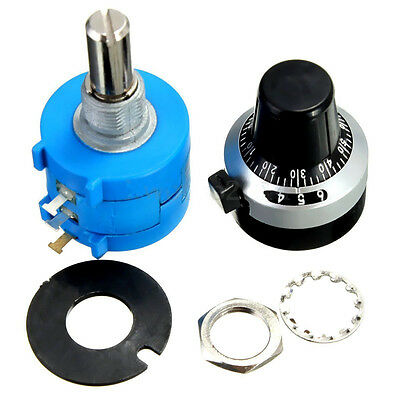 5K Ohm 3590S-2-502L Potentiometer With 10 Turn Counting Dial Rotary Knob 1x
