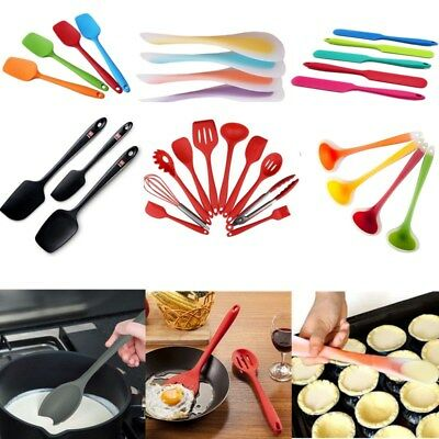 Silicone Spoon Spatulas Baking Cooking Tool Kitchen Utensil Non-Stick Reusable
