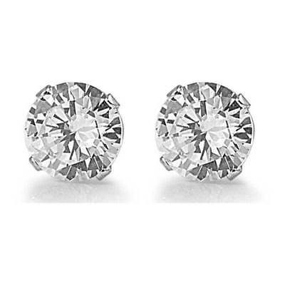 .50 CTS ROUND DIAMOND SOLITAIRE STUD EARRINGS 14K SOLID WHITE GOLD Mom Gifts