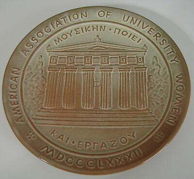 Vintage Frankoma American Association Of University Women Wall Plate 1980 AAUW