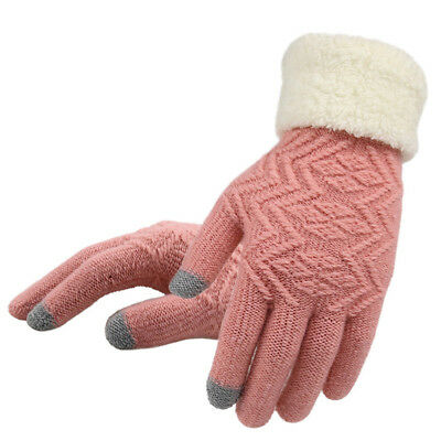 Women Winter Touch Screen Gloves Warm Kint Elegant Full Finger Fleece Gloves