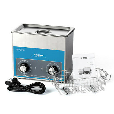 220V Stainless Steel 3 L Liter Industry Heated Ultrasonic Cleaner Heater w/Timer