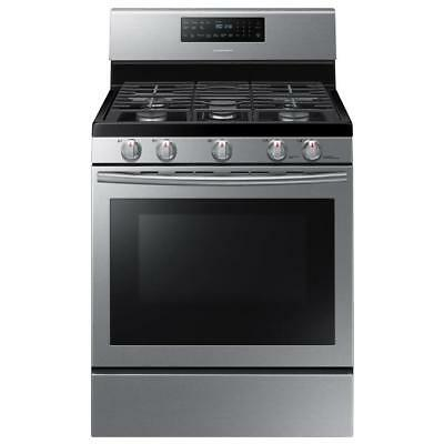 NEW FREE SHIPPING Samsung NX58H5600SS 5.8 cu.ft. Gas Range w/ 5-Burner Stainless