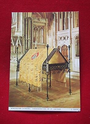 Vintage Postcard - Winchester Cathedral, Commemoration of St. Swithun