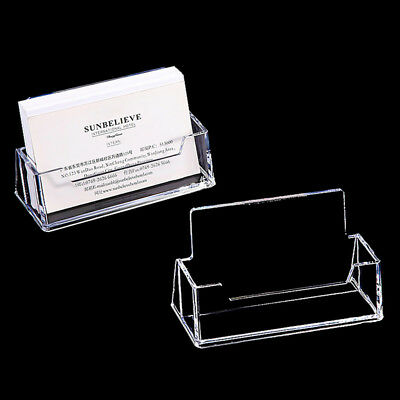 Landscape Acrylic Business Card Holders Desktop Dispensers Display Stands Clear