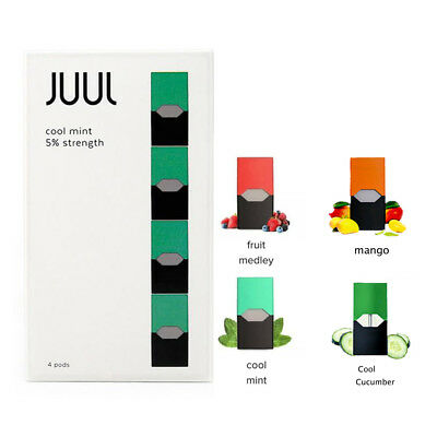 4 Pods JUUL WRAP DECAL Compatible Mango/Cucumber/CoolMint/Menthol /Fruit Flavors