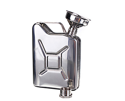 Mini Petrol / Jerry Can Hip Flask - Bushcraft & Survival - Stainless Steel 5oz