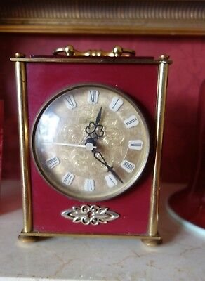 VINTAGE BENTIMA BATTERY OPERATED MANTEL CLOCK - 1970's - running perfectly