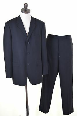 TED BAKER Mens 2 Piece Suit Size 40 Large W34 L32 Black Wool  EN03