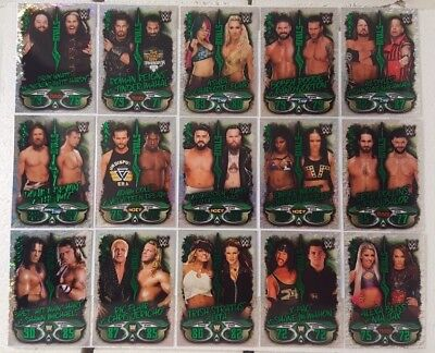 WWE SLAM ATTAX LIVE 2018 Rivals Foil Trading Card Set of 16 topps 33 - 48