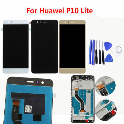 For Huawei P10 Lite LCD Touch Digitizer+Screen Display+Frame Replacement+Tools