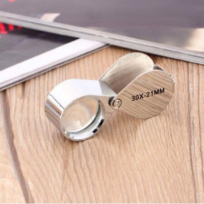 Pocket 30x Magnifier Jeweller Eye Glass 21mm Loop Lens Magnifying Loupe