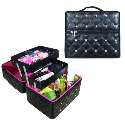 bo te cosm tique case maquillage trolley coffre bijoux. Black Bedroom Furniture Sets. Home Design Ideas